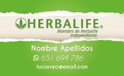 Tarjetas Visita Herbalife