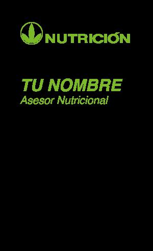 Tarjetas De Visita Presentación Herbalife Nutrición
