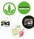 Impresionarte-Xativa-Nutricion-Herbalife-chapas-pack-paquete-5-cinco-variado-h24-logo-marca-verde-desayuno-saludable