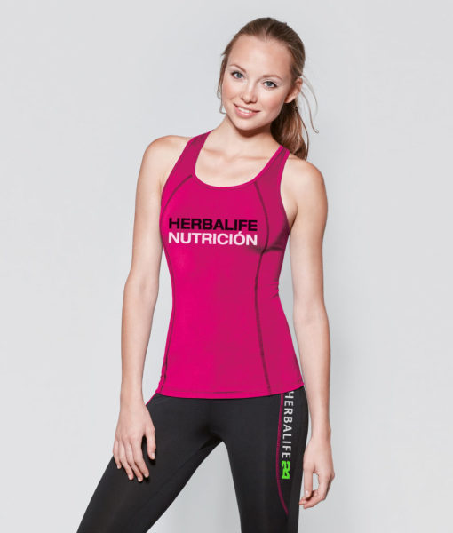 Chandal Conjunto Camiseta Pantalon Fitness Gimnasio Mujer Rosa