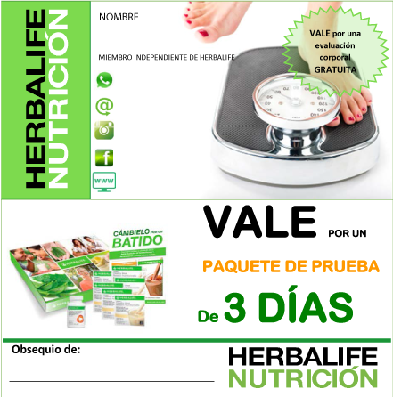 Impresionarte Xativa Nutricion Herbalife Tarjetas Invitacion