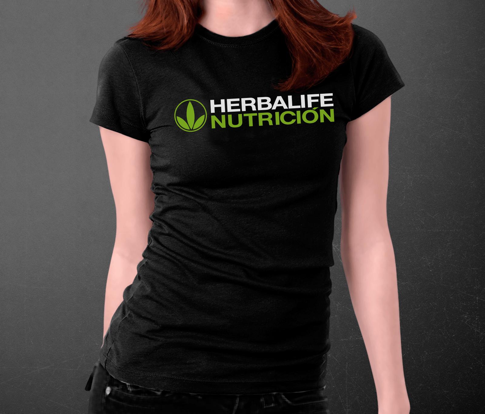 7ac98baaafe Herbalife Hombre Mujer Nutricion Camiseta Negro Basic qtvwnR6