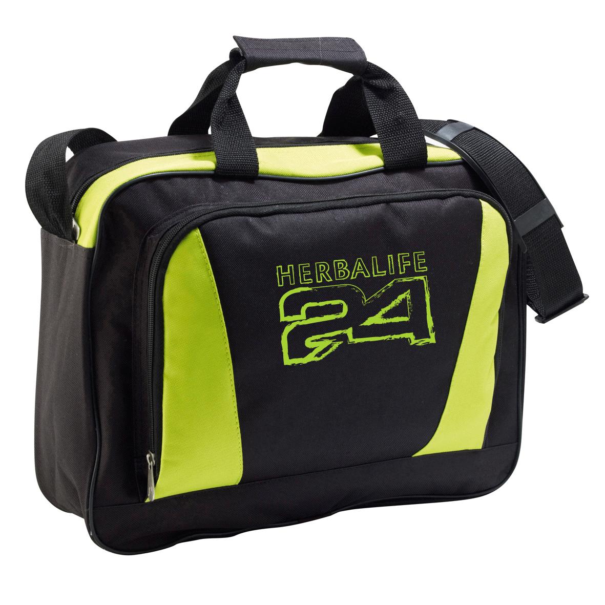 c31e31b79e2 Portadocumentos PC Funda portatil bandolera portatodo Herbalife Nutrición  H24 verde y negro