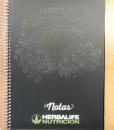impresionarte-xativa-nutricion-herbalife-libreta-notas-bloc-cuaderno-apuntes-hojas-blanco-bocetos-borrador-informacion-bloc-portada-negro-verde-alimentacion-correcta-escuela-apuntar-anotar