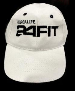 Impresionarte-Xativa-Nutricion-Herbalife-gorra-visera-algodon-blanco-negro-verde-lettering-borde-detalles-regalo-fitness-fit24