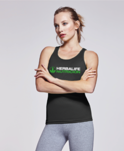 Impresionarte-Xativa-Nutricion-Herbalife-Camiseta-Mujer-Deportiva-Tecnica-Transpirable-Fresh-Tirantes-Negra-H24