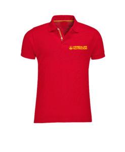 Impresionarte-Xativa-Distribuidores-Herbalife-Nutricion-Polo-Ropa-Prenda-Top-Camiseta-Vestir-Hombre-Rojo-Roja-Amarillo-Bandera-Patriota-Pais-Paris-2018-Extravaganza-Spain-Evento
