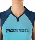Impresionarte-Xativa-Herbalife-Nutricion-Camiseta-Polo-Cuello-Mujer-Chica-Ella-Azul-Ocean-Blue-Deporte-Excursion-Alta-Aire-Libre-Camisa-Polo-Cuello-Rejilla