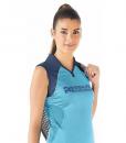 Impresionarte-Xativa-Herbalife-Nutricion-Camiseta-Tenis-Padel-Blue-Sea-Ocean-Deportiva-Uniforme-Cuello-Mujer