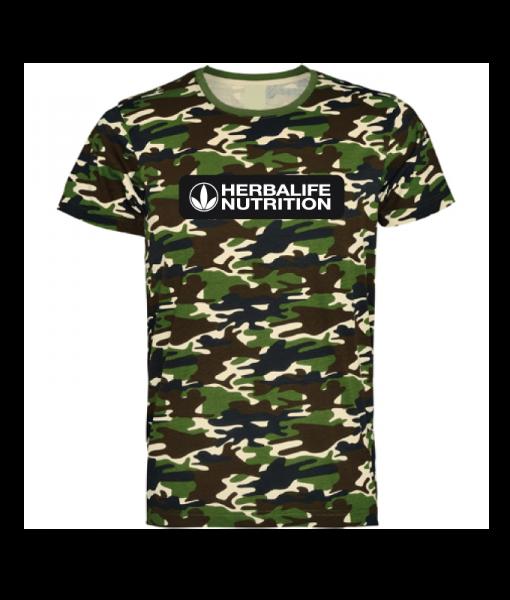 Impresionarte-Xativa-Herbalife-Nutricion-Camiseta-Unisex-Militar-Caqui-Estampado-Fuerza-Spartan-Camuflaje-Verde-Marron-Negro-Manga-Corta-Hombre-Moda