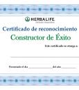 Impresionarte-Distribuidores-Herbalife-Xativa-Asesores-Nutricion-Certificado-Reconocimiento-Constructor-Exito