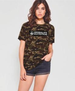 Impresionarte-Distribuidores-Herbalife-Xativa-Asesores-Nutricion-Herbalife-Camiseta-Camuflaje-Militar-Camiseta-Manga-Corta